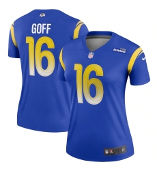 Women's Los Angeles Rams #16 Jared Goff Blue Nike Royal Game Jersey.webp