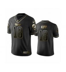 Men's Los Angeles Rams #18 Cooper Kupp Limited Black Golden Edition Football Jersey