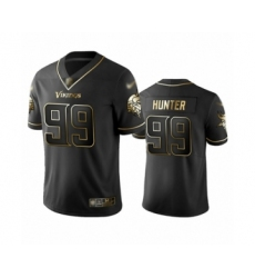 Men's Minnesota Vikings #99 Danielle Hunter Limited Black Golden Edition Football Jersey