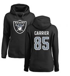 NFL Women's Nike Oakland Raiders #85 Derek Carrier Black Name & Number Logo Pullover Hoodie