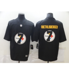 Men's Pittsburgh Steelers #7 Ben Roethlisberger Black Nike Black Shadow Edition Limited Jersey