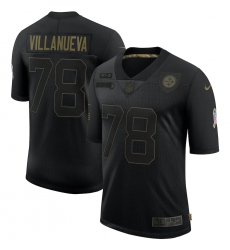 Men's Pittsburgh Steelers #78 Alejandro Villanueva Black Nike 2020 Salute To Service Limited Jersey