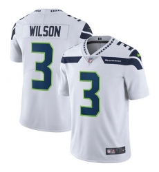 Men's Nike Seattle Seahawks #3 Russell Wilson White Vapor Untouchable Limited Player NFL Jersey