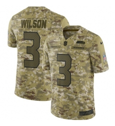 Youth Nike Seattle Seahawks #3 Russell Wilson Limited Camo 2018 Salute to Service NFL Jersey