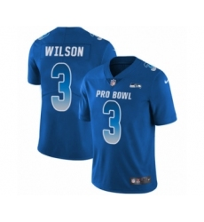 Youth Nike Seattle Seahawks #3 Russell Wilson Limited Royal Blue NFC 2019 Pro Bowl NFL Jersey