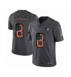 Men's Tennessee Titans #8 Marcus Mariota Limited Black USA Flag 2019 Salute To Service Football Jersey