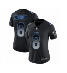 Women's Tennessee Titans #8 Marcus Mariota Limited Black Smoke Fashion Football Jersey