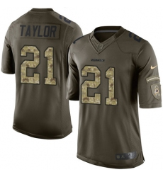 Men's Nike Washington Redskins #21 Sean Taylor Elite Green Salute to Service NFL Jersey