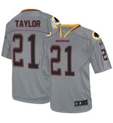 Men's Nike Washington Redskins #21 Sean Taylor Elite Lights Out Grey NFL Jersey