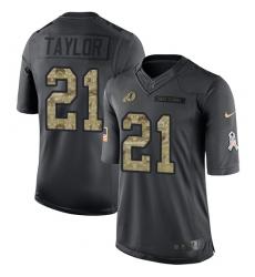 Men's Nike Washington Redskins #21 Sean Taylor Limited Black 2016 Salute to Service NFL Jersey