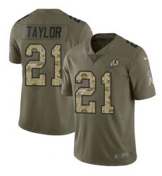 Men's Nike Washington Redskins #21 Sean Taylor Limited Olive/Camo 2017 Salute to Service NFL Jersey