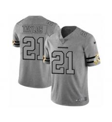 Men's Washington Redskins #21 Sean Taylor Limited Gray Team Logo Gridiron Football Jersey