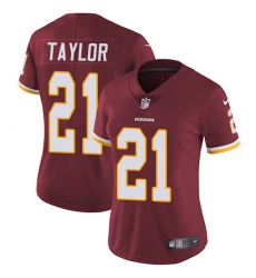 Women's Nike Washington Redskins #21 Sean Taylor Burgundy Red Team Color Vapor Untouchable Limited Player NFL Jersey