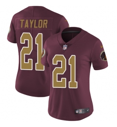Women's Nike Washington Redskins #21 Sean Taylor Burgundy Red/Gold Number Alternate 80TH Anniversary Vapor Untouchable Limited Player NFL Jersey