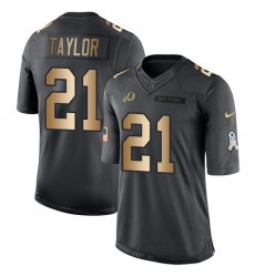 Youth Nike Washington Redskins #21 Sean Taylor Limited Black/Gold Salute to Service NFL Jersey