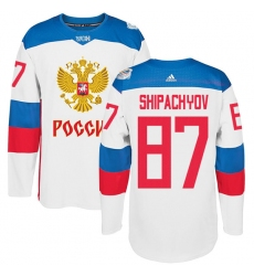 Men's Adidas Team Russia #87 Vadim Shipachyov Authentic White Home 2016 World Cup of Hockey Jersey