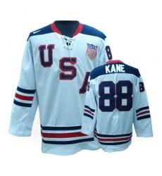 Men's Nike Team USA #88 Patrick Kane Authentic White 1960 Throwback Olympic Hockey Jersey