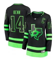 Women's Dallas Stars #14 Jamie Benn Fanatics Branded Black 2020-21 Alternate Premier Breakaway Player Jersey