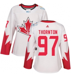 Women's Adidas Team Canada #97 Joe Thornton Authentic White Home 2016 World Cup Hockey Jersey