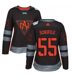 Women's Adidas Team North America #55 Mark Scheifele Authentic Black Away 2016 World Cup of Hockey Jersey