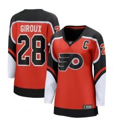 Women's Philadelphia Flyers #28 Claude Giroux Fanatics Branded Orange 2020-21 Special Edition Breakaway Player Jersey
