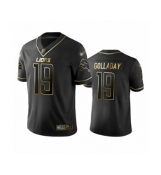 Men's Detroit Lions #19 Kenny Golladay Limited Black Golden Edition Football Jersey