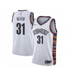 Men's Brooklyn Nets #31 Jarrett Allen Swingman White Basketball Jersey - 2019 20 City Edition
