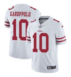 Men's Nike San Francisco 49ers #10 Jimmy Garoppolo White Vapor Untouchable Limited Player NFL Jersey