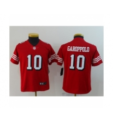 Youth San Francisco 49ers #10 Jimmy Garoppolo Limited Red Rush Vapor Untouchable Football Jerseys