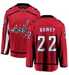 Men's Washington Capitals #22 Madison Bowey Fanatics Branded Red Home Breakaway NHL Jersey