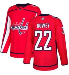 Youth Adidas Washington Capitals #22 Madison Bowey Authentic Red Home NHL Jersey