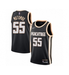 Men's Atlanta Hawks #55 Dikembe Mutombo Swingman Black Basketball Jersey - 2019 20 City Edition