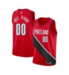 Women's Portland Trail Blazers Customized Swingman Red Finished Basketball Jersey - Statement Edition