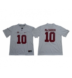 Alabama Crimson Tide 10 A.J. McCarron White Nike College Football Jersey
