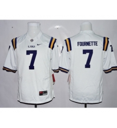 LSU Tigers 7 Leonard Fournette White Youth College Jersey