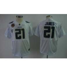 Youth Kids NCAA Oregon Ducks 21 LaMichael James White Jersey