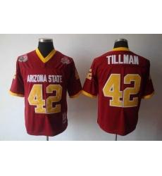 youth NCAA Arizona State Sun Devils 42 Pat Tillman Red Football Jersey