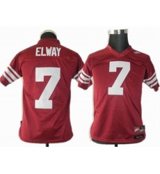 youth ncaa Standford Cardinals 7 Elways Red