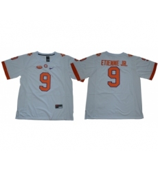 Tigers #9 Travis Etienne Jr. White Limited Stitched NCAA Jersey