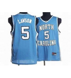 North Carolina #5 Ty Lawson Blue Embroidered NCAA Jersey
