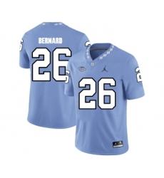 North Carolina Tar Heels 26 Giovani Bernard Blue College Football Jersey