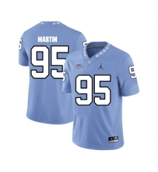 North Carolina Tar Heels 95 Kareem Martin Blue College Football Jersey