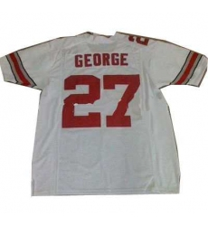 Ohio State Buckeyes #27 GEORGE white ncaa jerseys
