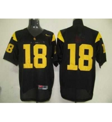 Trojans #18 Black Embroidered NCAA Jersey