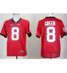Georgia Bulldogs 8 AJ Green Red College Football NCAA Jerseys