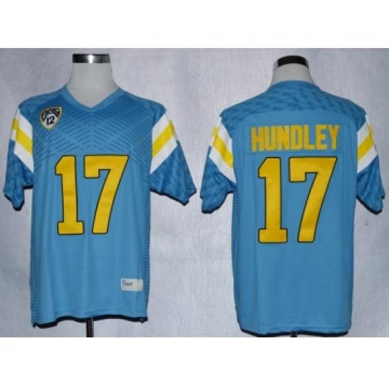UCLA Bruins 17 Brett Hundley L.Blue College Jerseys