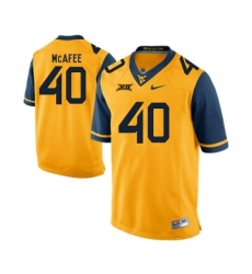 West Virginia Mountaineers 40 Pat McAfee Gold College Football Jersey