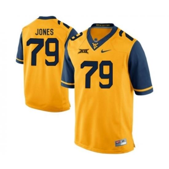 West Virginia Mountaineers 79 Matt Jones Gold College Football Jersey