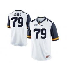 West Virginia Mountaineers 79 Matt Jones White College Football Jersey