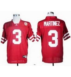 NCAA Nebraska Cornhuskers Taylor Martinez 3 Red College Football Jersey